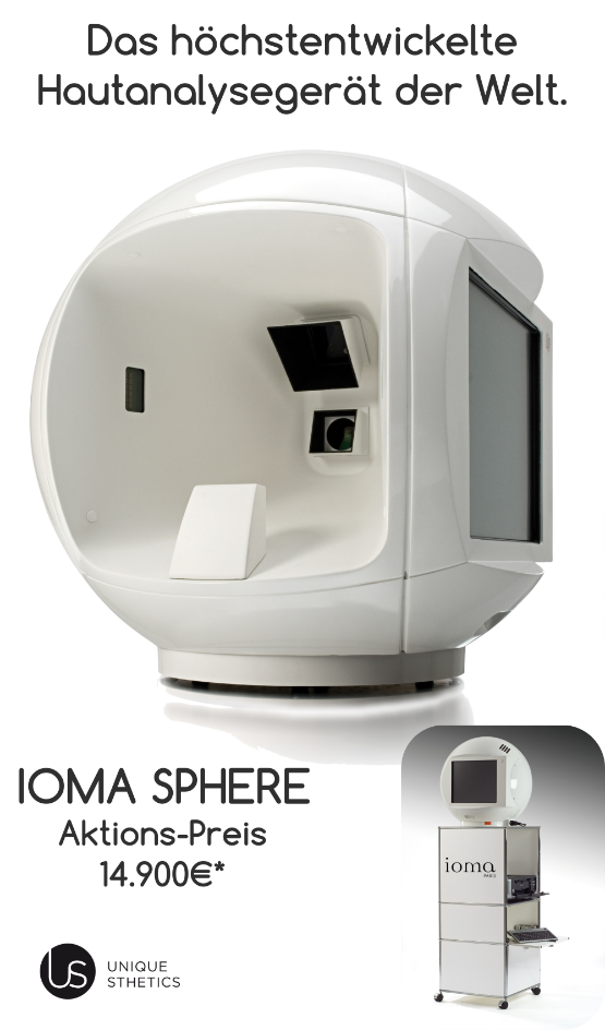 IOMA Hautanalysegerät, Hautanalyse, Skin analysis device, Skin analyzer device